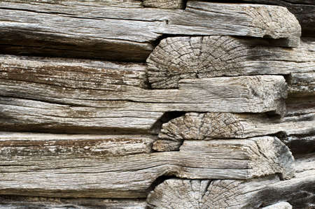 Detail of an old pioneer era log cabin photo
