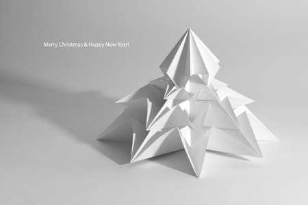 Christmas tree isolated on white 版權商用圖片 - 10080279
