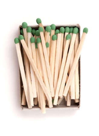 blank bomb: opened box of matches on a white background