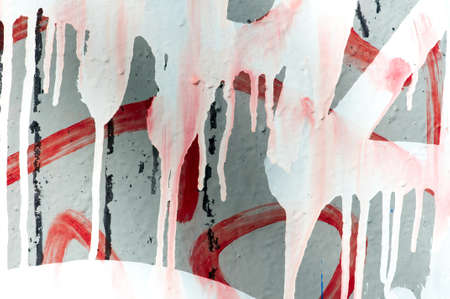 Paint dripping isolated on white background photo