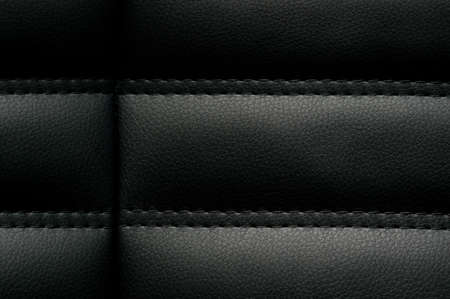 texture of black leather photo