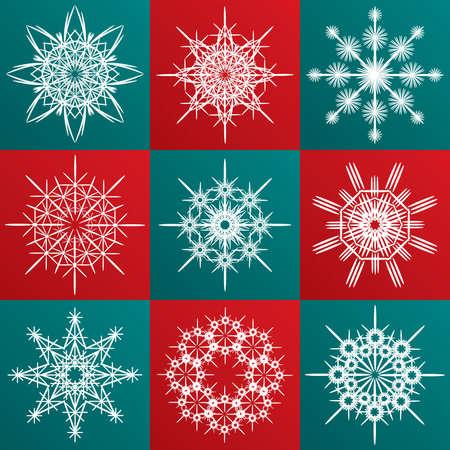 rime: Decorative vector Snowflakes set