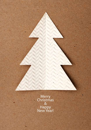 Christmas tree made ​​of paper photo