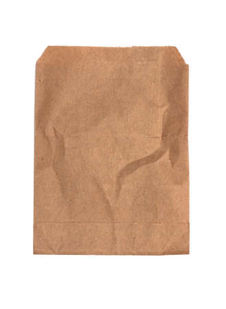brown envelope on a white background photo