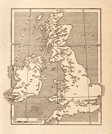 great britain: Antique Map of Britain