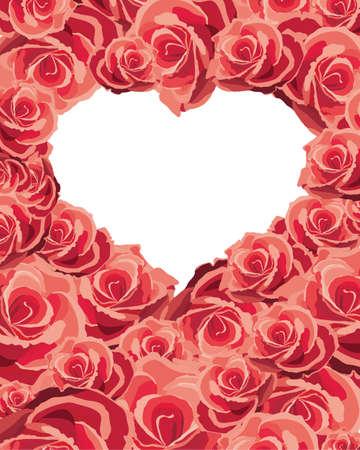 Heart of flowers, illustration Vector