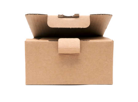 empty cardboard box isolated on the white background Stock Photo - 12515547