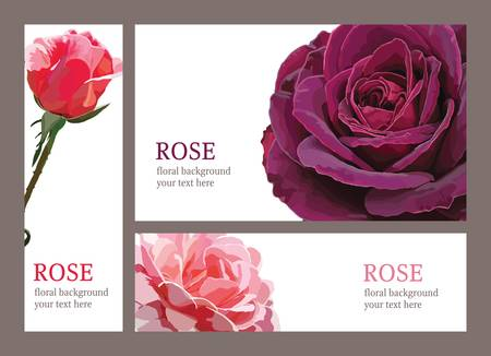 template invitation cards with roses 版權商用圖片 - 12984274