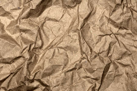 Crumpled paper bag photo