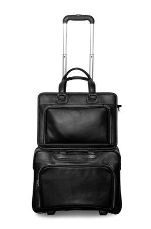 Travel or business bag isolated over white photo