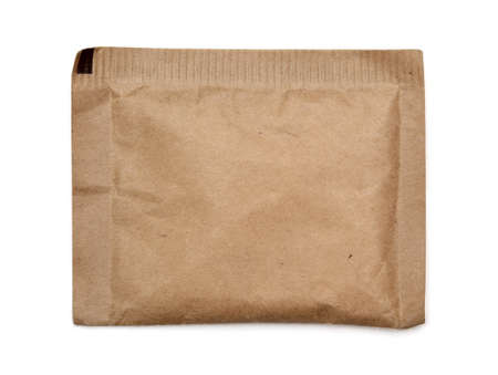 Brown paper bag on white background Stock Photo - 15124460