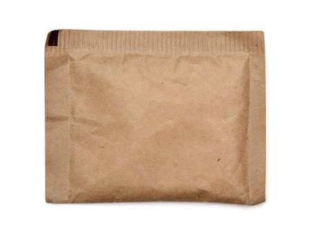 brown sugar: Brown paper bag on white background