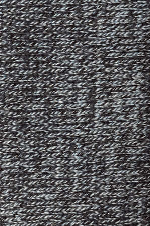 Close-up of knitted wool texture Gray photo