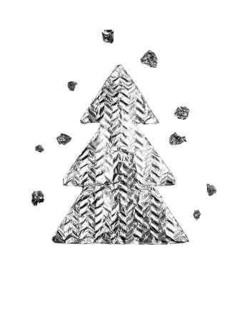 Christmas trees isolated on white photo