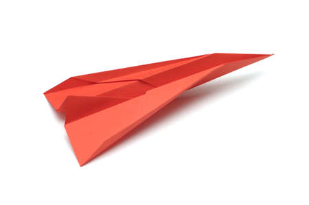 Paper airplane on white background Stock Photo
