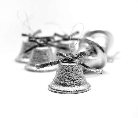Christmas silvery bells photo