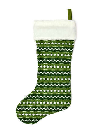 Christmas sock isolated on white photo