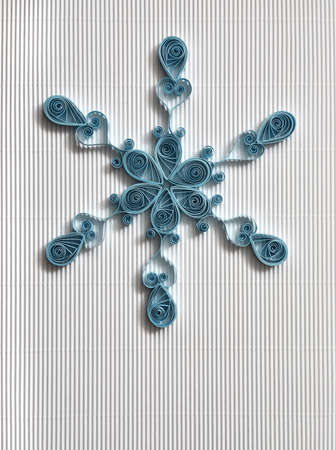 Christmas background with paper snowflake  photo