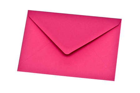 pink envelope on a white background photo
