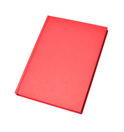 Blank red hardcover book isolated on white background photo