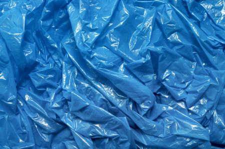 A blue plastic bag texture, macro, background photo