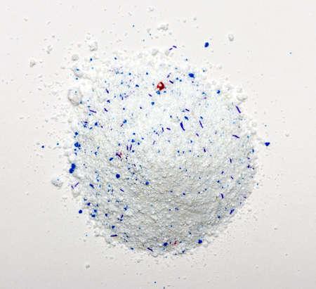 automat: Pile of Washing Powder on white Background