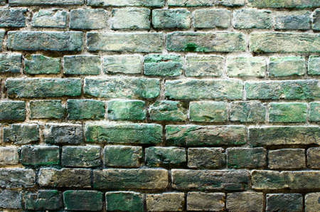 the walls are made of bricks of green Stock Photo - 20235765