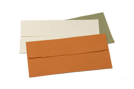 handmade envelopes on white photo