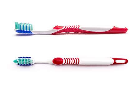 tanden borstel geïsoleerd op een witte achtergrond