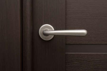 Details van houten deur Stockfoto