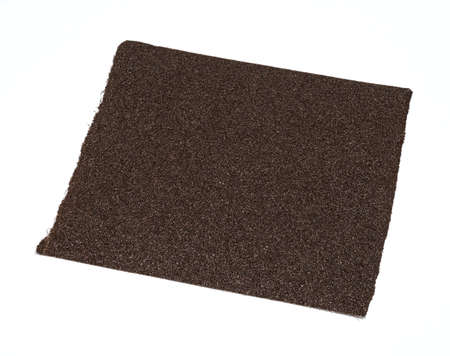 emery paper: Emery paper - sandpaper isolated on white Stock Photo