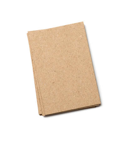 kraft postal card on a white background