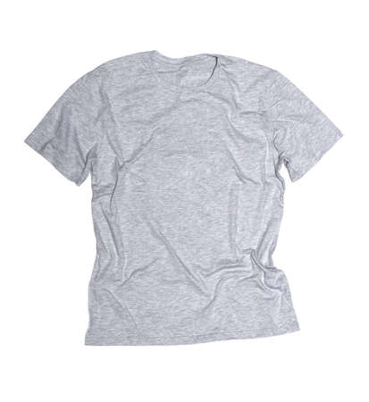 t shirt template: gray t-shirt on a white background