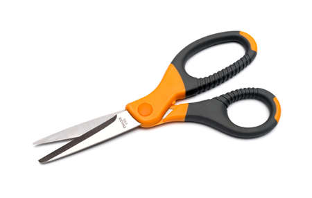 scissors isolated on a white background photo
