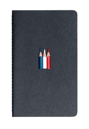 Three small used colored pencils photo