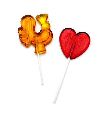 lolli: candies on a white background