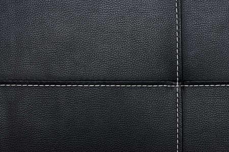 schwarzem Leder Hintergrund oder Texturen Standard-Bild