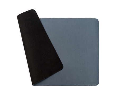 mousepad: Grey mouse-pad isolated on white background