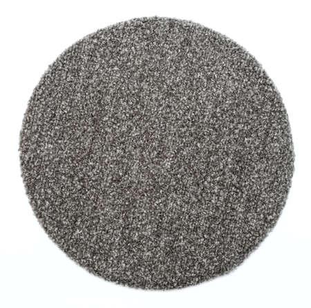 round: a round grey carpet isolated on white background Stock Photo