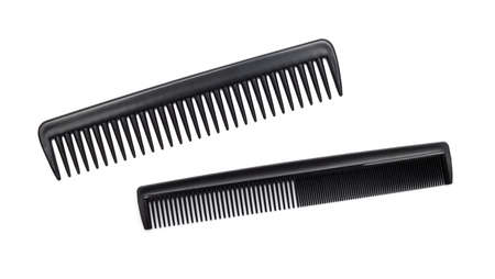 haircutting: comb isolated on white close up look