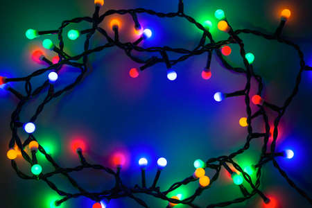 colored christmas lights background