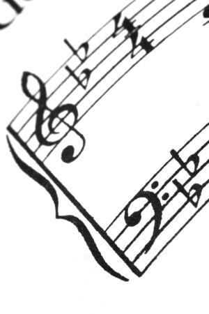 Macro of sheet music