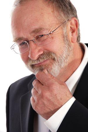 busy beard: Portait of a senior businessman Stock Photo