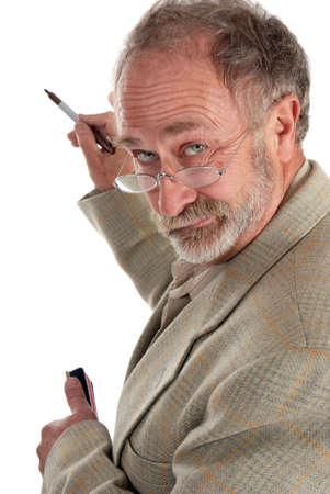 wacky: Wacky Professor writing on a supposed whiteboard