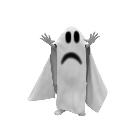 3d man ghost costume from halloween party photo