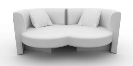 minimalist: 3d furniture design detailed isolated on white