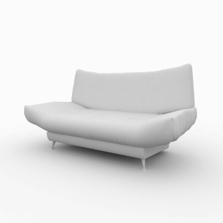 3d furniture detailed sofa isolated on white Stock Photo - 7742106