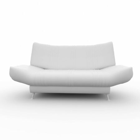 ambience: 3d furniture detailed sofa isolated on white