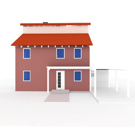 3d house isolated on white rendered generic Stock Photo - 8065980