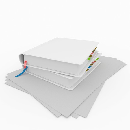 3d blank books isolated on white Stock Photo - 8065966